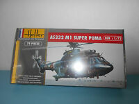 23.10.16.5 Heller As332 M1 Super Puma Helicoptère Maquette Kit 1/72