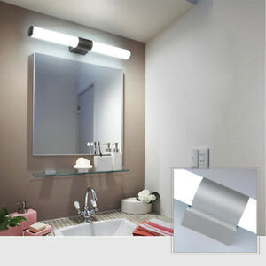 Modern bathroom vanity led light acrylic front mirror toilet wall la foto se est cargando modern bathroom vanity led light acrylic front mirror aloadofball Choice Image