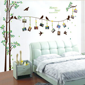Large Photo Tree Wall Stickers Home Decor Living Room Bedroom 3d