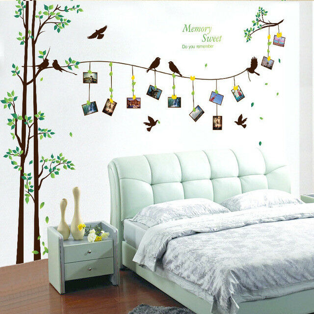 Tree Flower Wall Decal Sticker Living Room Bedroom Photo Frame Family Home Decor