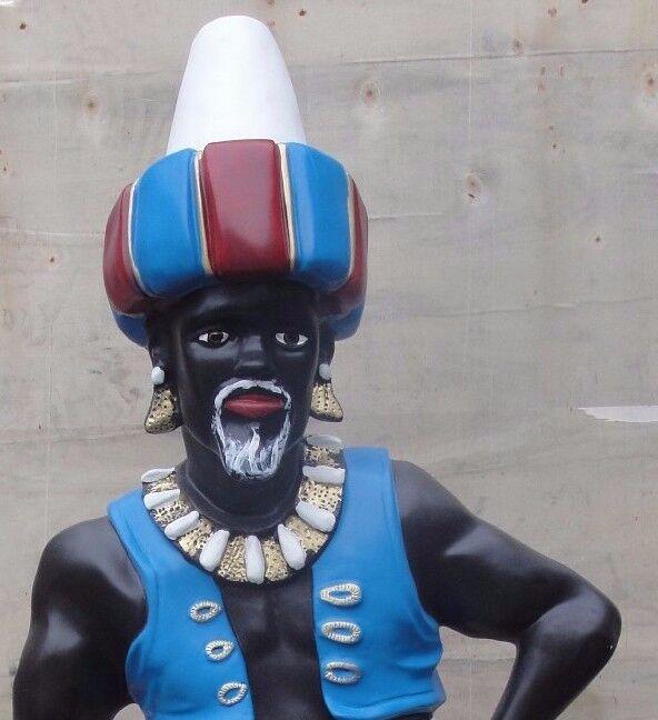 Sarotti Mohr Mit Mit Mit CD Ständer Mohr Boy Figur Butler Dekofigur Werbefigur Skulptur de55bb