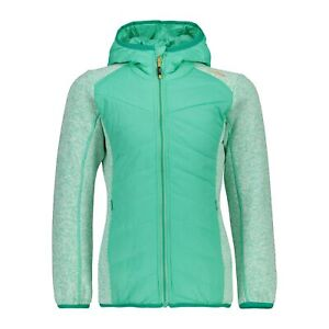 Adaptable Cmp Hybrid Veste Fonction Veste Girl Jacket Hybride Fix Hood Vert Clair Saumon-afficher Le Titre D'origine