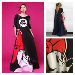 Details about MICKEY MINNIE MOUSE Long Winter Loose Black Club Top MAXI  DRESS PLUS SIZE S-2XL