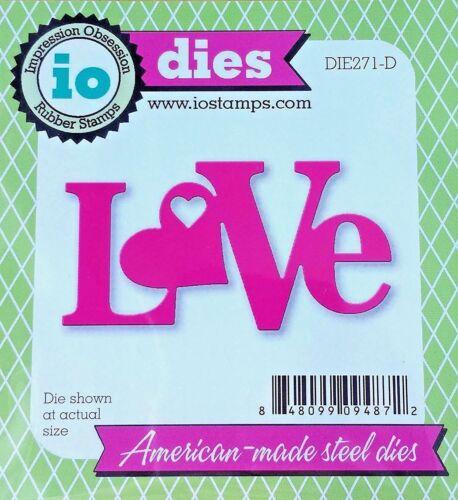 # DIE271-D Valentines Day Wedding Love Impression Obsession IO Steel Die