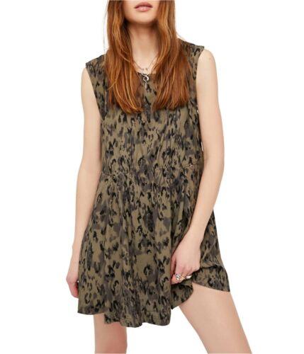 Free People Womens Fake Love Printed Mini Dress