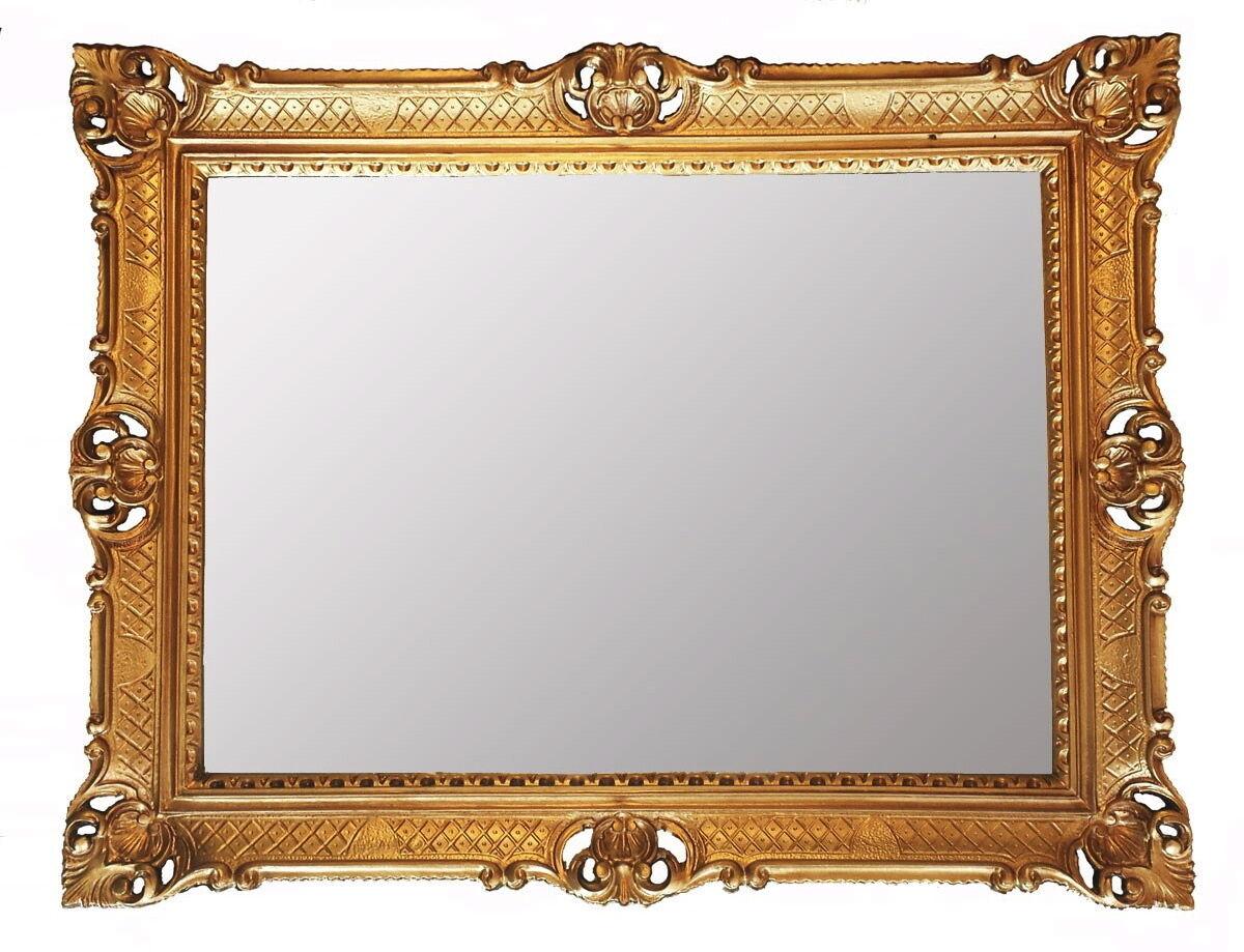 Miroir Mural or Baroque 90x70 miroir ancien miroir de salle de bain Hall Hanging New