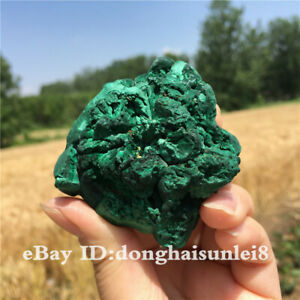 Natural-crystal-Rough-malachite-crystal-ore-mineral-Specimen-healing-2-039-039-2pcs