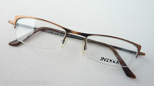 Glasses-Frame-Narrow-only-Upper-Edge-Damenfassung-Braun-from-Inlook-Solid-Size-M