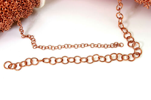 Rose Gold Round Ring Link Cable Necklace Bracelet Chain Jewelry Making Finding