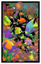 Living Reef Flocked Blacklight Poster Art Print Blacklight Poster, 23x34.5