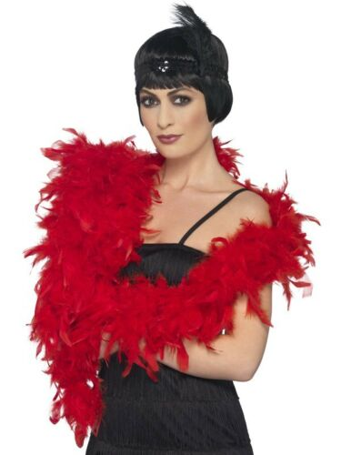 Deluxe Boa rouge plume 180 cm 80 g