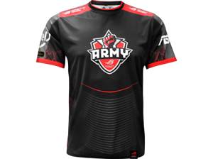 Negro y Rojo Talla L Camiseta Asus Rog Army