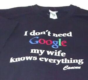 Image of: Pixel Image Is Loading Xlblacktshirtfunnygoogle034wife Ebay Xl Black Tshirt Funny Google