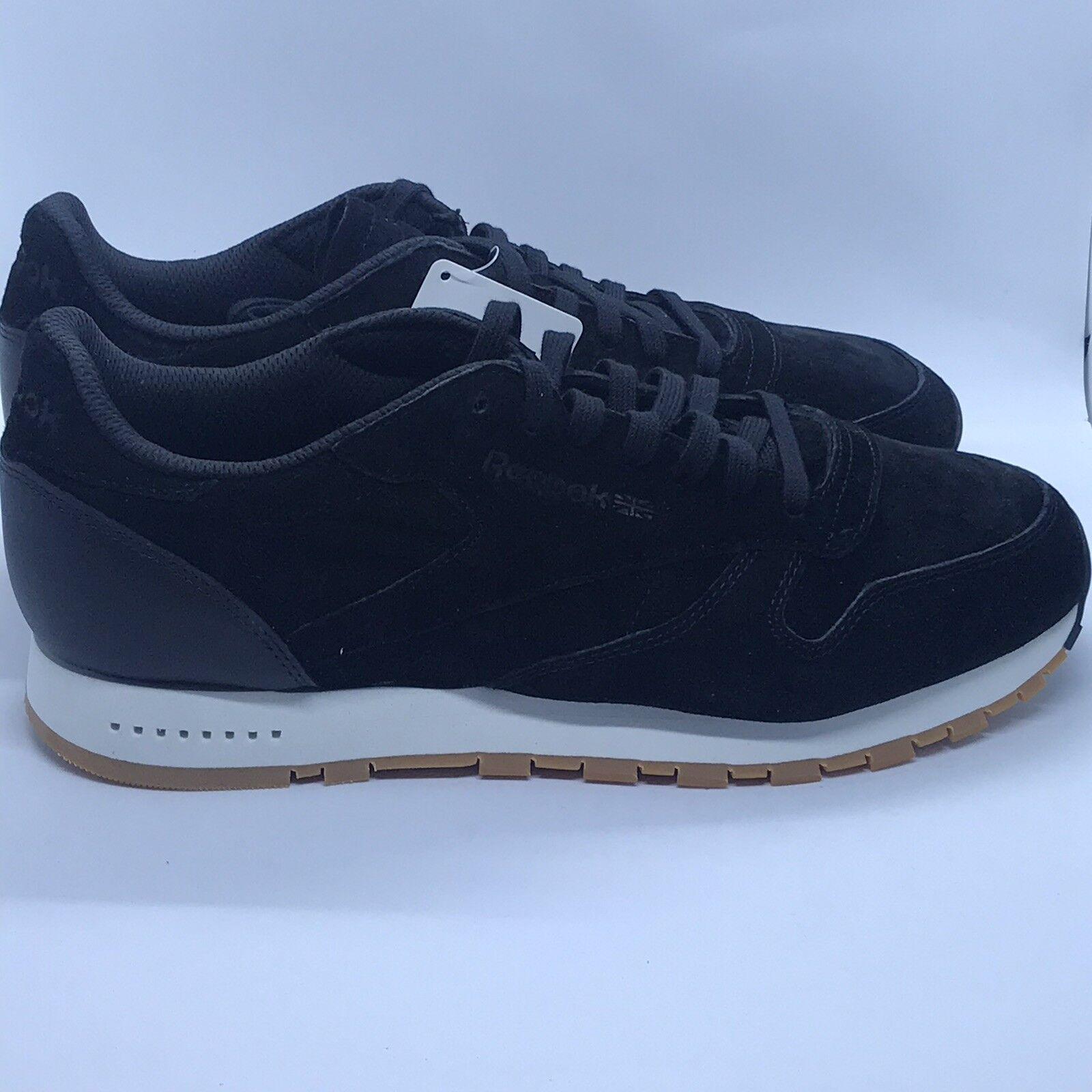 uomo REEBOK CLASSIC CL LEATHER SG nero CHALK-GUM CHALK-GUM CHALK-GUM  scarpe Dimensione 11.5 New 5eacfe