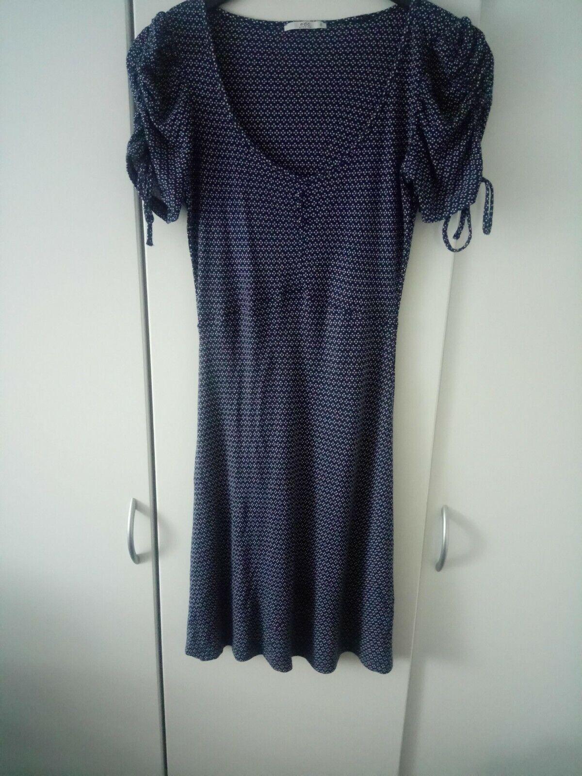 dekoratives Kurzarm Sommerkleid von EDC, Größe S, mehrfarbig mit Armschleifen
