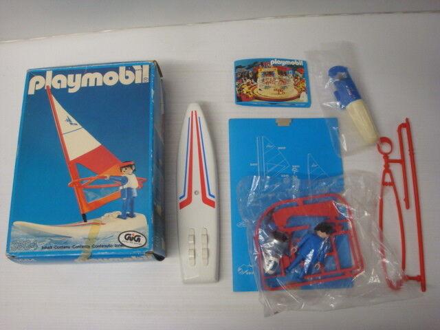 Playmobil ancien GIG neuf en boite sachets scellés - planche à voile ref 3584