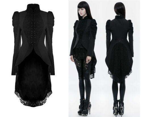 Punk Rave Gothic Veste STEAMPUNK spitzetailcoat nugoth redingote vintage wy-831l