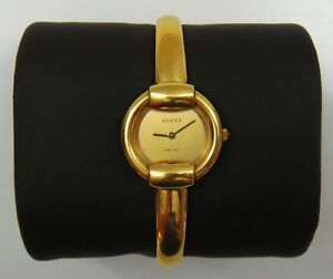 3ff469c583d Image is loading Gucci-1400L-Gold-Tone-Ladies-Bracelet-Watch