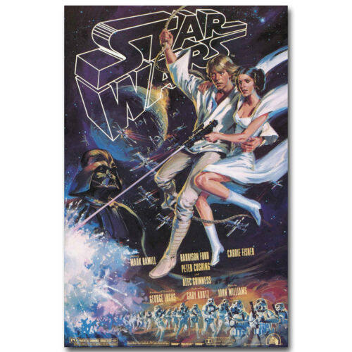 STAR WARS REVENGE OF THE SITH Vintage Movie Silk Poster 13x20 24x32inch