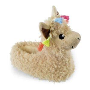 1cdf6e552a7a Ladies Girls Novelty Llama Slippers Alpaca Size 3 - 8 Tassel Pompom ...