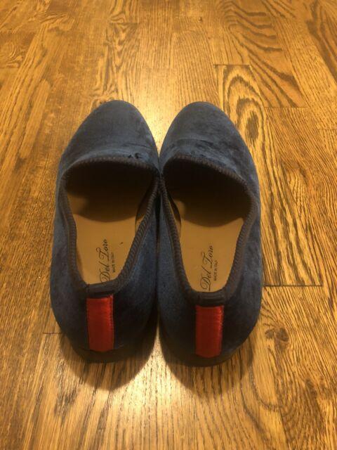 Del Toro Men's Blue Velvet Dress Shoes, Men's Size 9 1/5