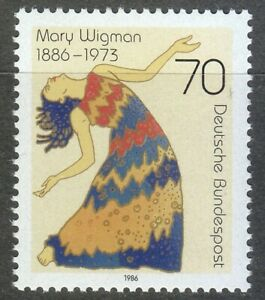Germany-1986-MNH-Mi-1301-Sc-1474-Mary-Wigman-German-dancer-and-choreographer