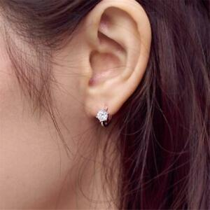 Details About New Shiny Faux Diamond Small Tiny Ear Studs Elegant Simple Earrings For Women W