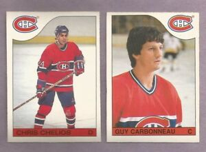 1985-86-OPC-O-PEE-CHEE-Montreal-Canadians-Team-Set