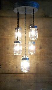 Ball Mason Jar Light Fixture Rustic Country Farmhouse