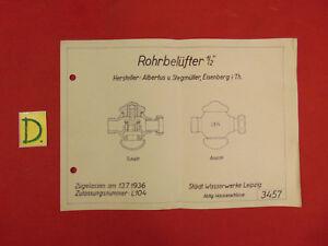 Schema Rohrbelüfter 1/2 Zugellasen Am 13.7.1936 Schlosser