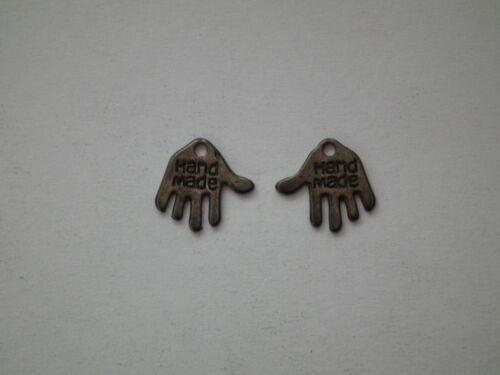 "SCF08 10 or 100 Grey//Black Tone /""Hand Made/"" Charms 2"