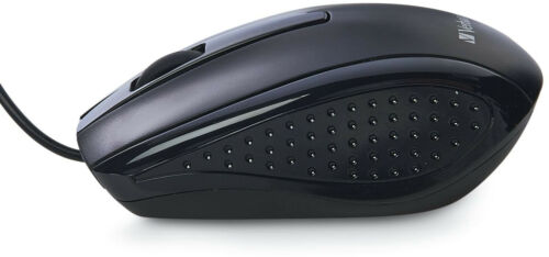Keyboard And Mouse Black Corded USB Slim Wired For Mac PC Computer Compatible