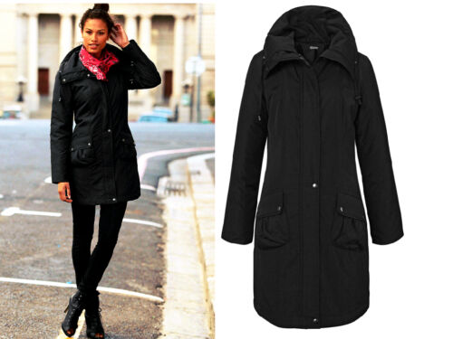 Transition Chilly 36 38 Parka Noir Nouveau Time Longue Size 34 Coat Fp71aq