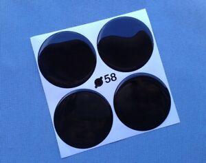 4x-Aufkleber-Embleme-fuer-Nabenkappen-Felgendeckel-58mm-Schwarz-Silikon-3D-1377