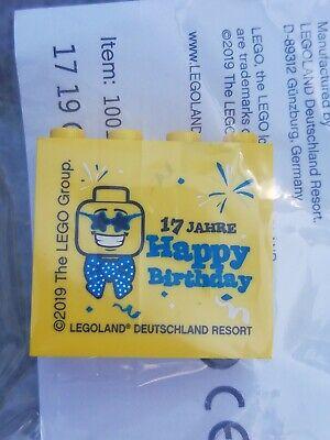 ???? Happy Birthday 2019 ???? Sammelstein Sonderstein Promobrick Lego® Legoland Geschickte Herstellung