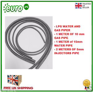 GAS AND INJECTOR PIPE PIPE SET 10mm GAS PIPE /& 5mm INJ PIPE /& 15mm WATER PIPE