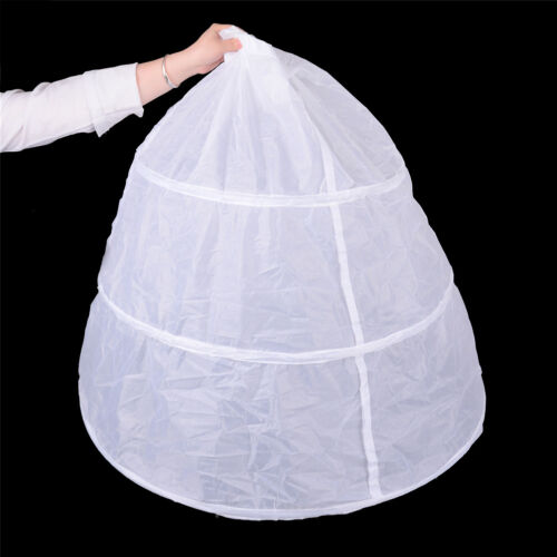3 Hoops Petticoats for Wedding Dress Crinoline For Ball Gown NS6ON
