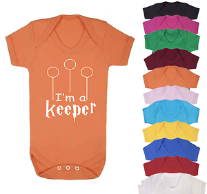 I/'m a Keeper Harry Potter Inspired Baby Vest  Babygrow Baby Shower Gifts