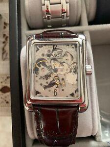 orologio-Elegante-Pelle-automatico-uomo-donna-Spada-Di-Giovanni-Skeleton-Regalo