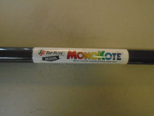 TOPFLITE MONOKOTE METALLIC CHARCOAL  #  TOPQ0407   NOS   6/' LENGTH ROLL