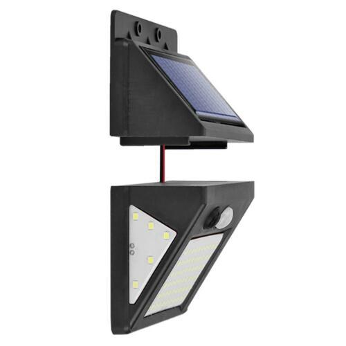 70 LED Solar Teilt Wandleuchte Bewegungsmelder Gartenlampe Außenleuchte Licht