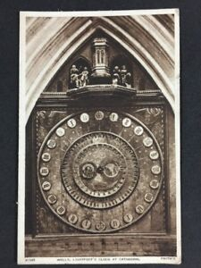 Vintage-Postcard-Kent-T29-Wells-Lightfoots-Clock-At-Cathedral-Posted-1949