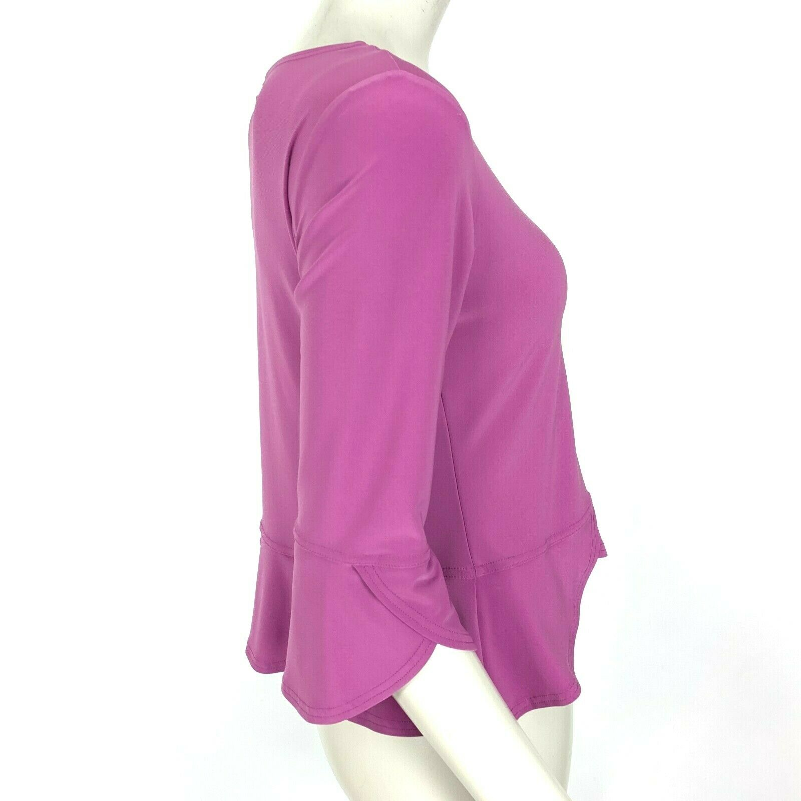 Sympli Canada Lilac Blouse Top 3/4 Sleeve Scoop N… - image 5