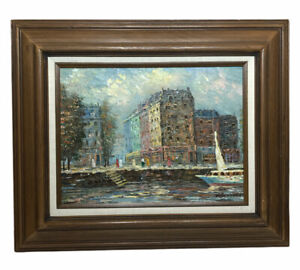 Signed Alan Walters Framed Oil Painting Victorian Era Impressionist Style NICE!!