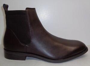 e0ba2ae6f02 Calvin Klein Size 11.5 M DAI LEATHER Dark Brown Ankle Boots New Mens ...
