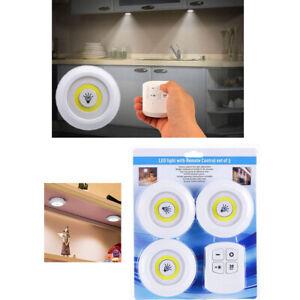 3X-Led-Lumiere-Lampe-A-Piles-Intensite-Reglable-Avec-Telecommande-Sans-Fil