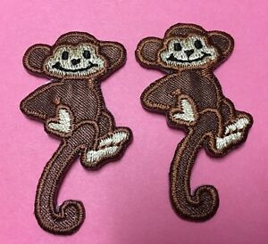 Monkey Applique Patch Gift Embroidered Iron On Uget2 03 Crafts Fun