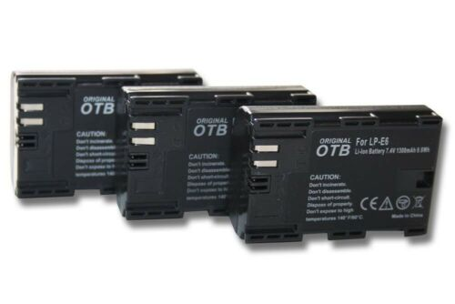 CHIP FOR CANON EOS R  7-D ACCU 3x BATTERY