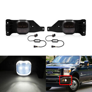 Smoked Led Front Fog Light Kit For Ford Excursion F250 F350 F450 F550 Super Duty Ebay