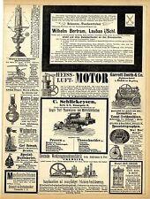 W.Bertram Lauban Schlesien Taschentücher Heiss-Luft-Motor Haustelegraphen...1883